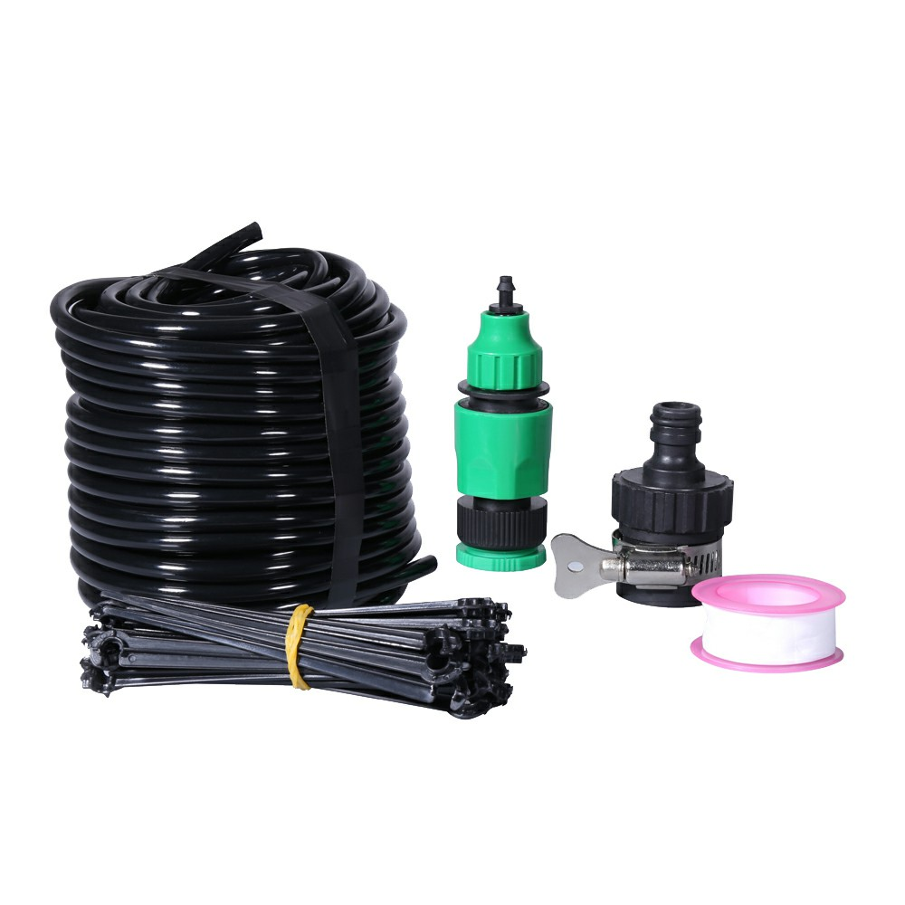 25M DIY Water IRRIGATION Kit Micro Drip Watering Plant System Garden Hose