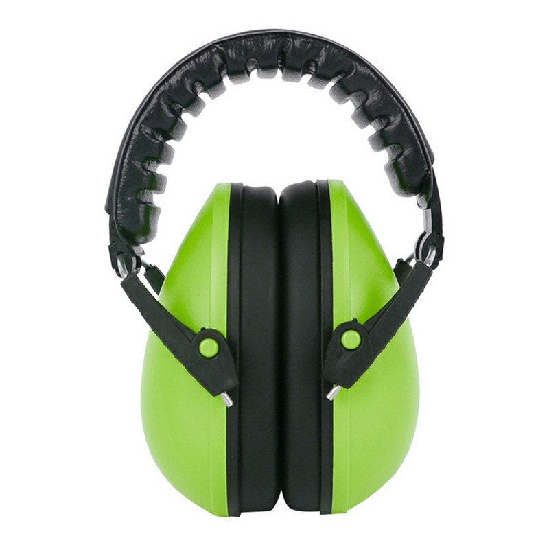 Baby Child Adjustable Foldable Earmuff Noise Reduction Sleep Hearing Protection Earmuff - Green