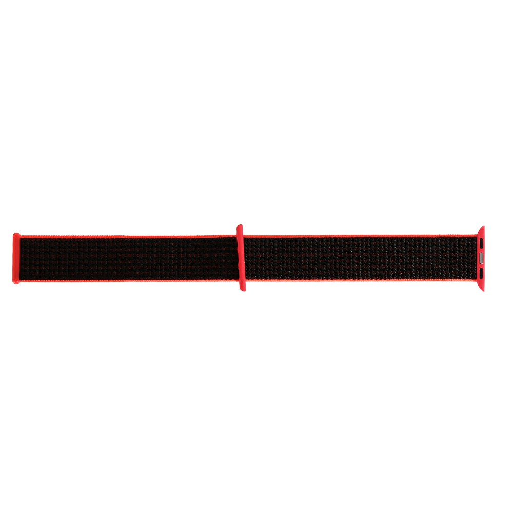 38mm Apple Watch Band Sports Loop Woven Nylon Watchband Strap for iWatch Series 3/2/1 - Pink + Black