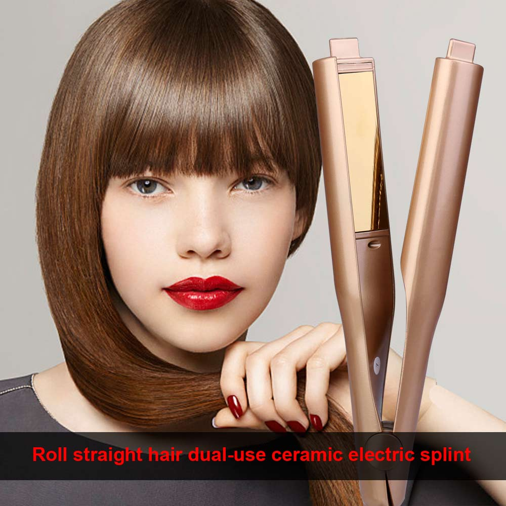 Electric Ceramic 2 in 1 Mestar Iron Pro Dual-Purpose Hair Straightener and Curler Flat Iron UK