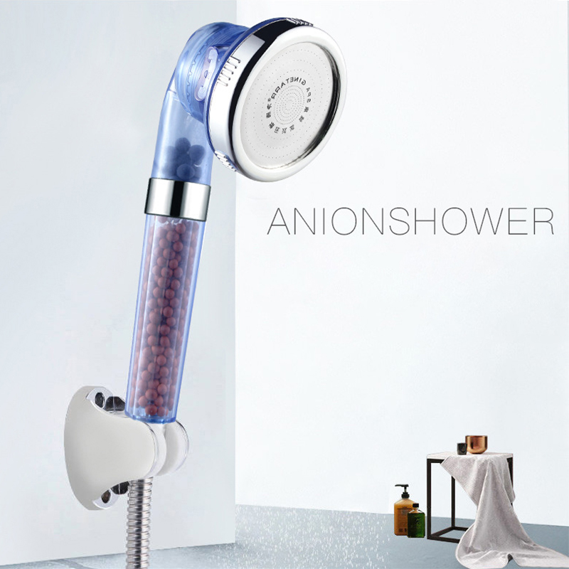 Adajustable High Turbo Pressure Water Saving Laser 3 Modes Dismountable Shower Head with Filter Beads