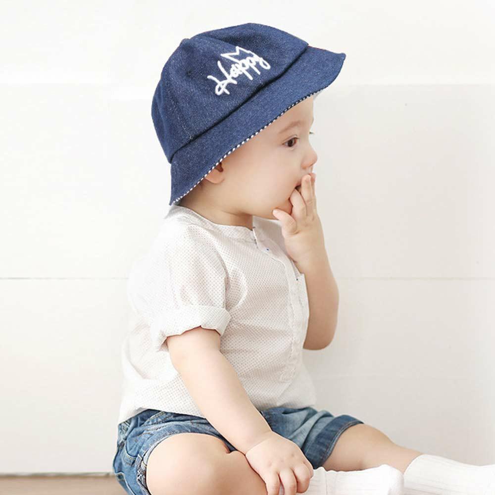 Baby Sun Hat Summer Beach Hat Denim Bucket Cap for Boy Girl Toddler Kids Newborn 0-4 Years