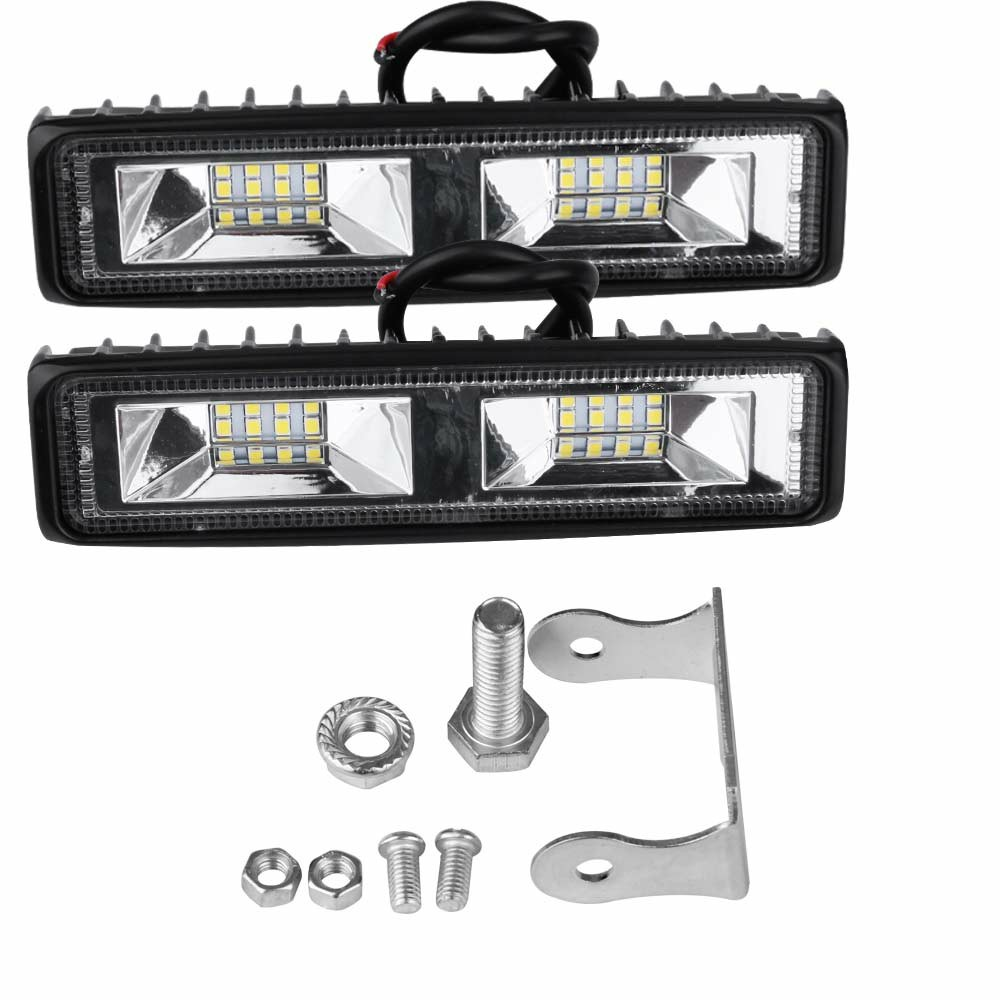 2pcs 48W LED Work Light Bar Flood Spot Lights Driving Lamp Fit for Off Road Car Truck SUV
