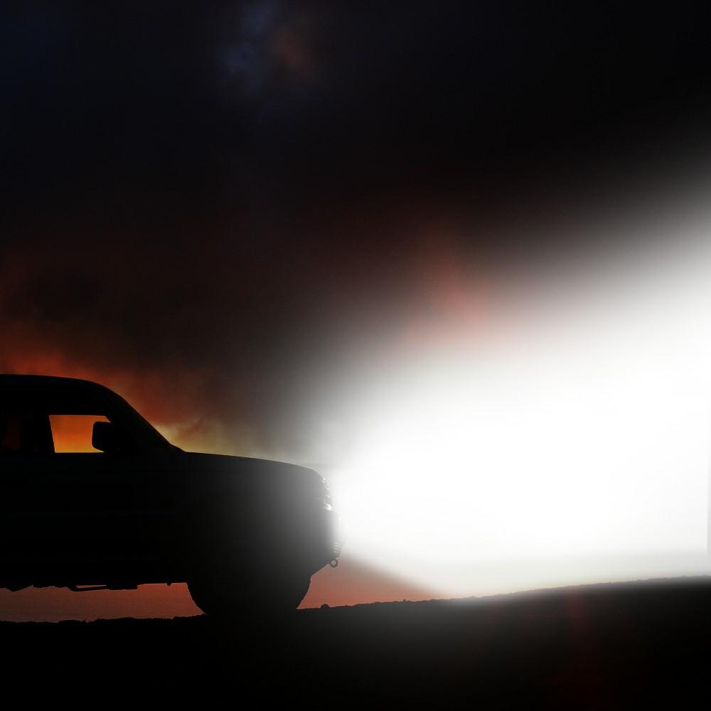 2pcs 48W LED Work Light Bar Flood Spot Lights Driving Lamp Fit for Off Road Car Truck SUV