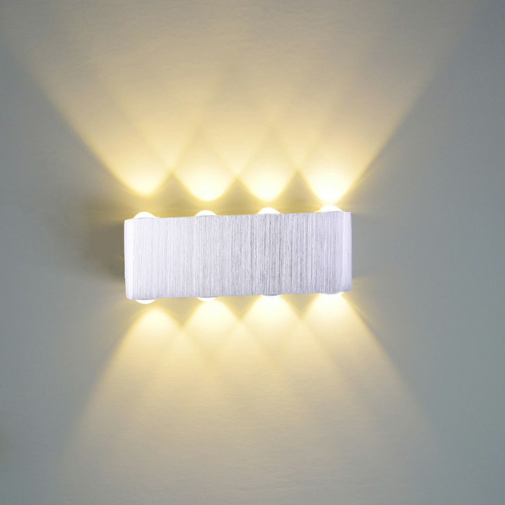 8W LED Wall Lamp Indoor Up Down Lamp Sconce Spot Lamp Home Bedroom Decoration Lamp - Warm Light