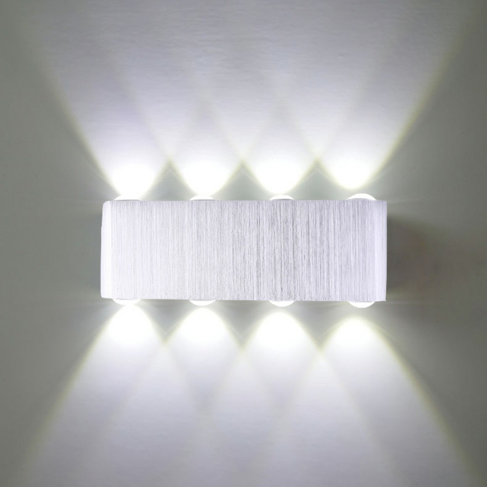 8W LED Wall Lamp Indoor Up Down Lamp Sconce Spot Lamp Home Bedroom Decoration Lamp - Cool White Light