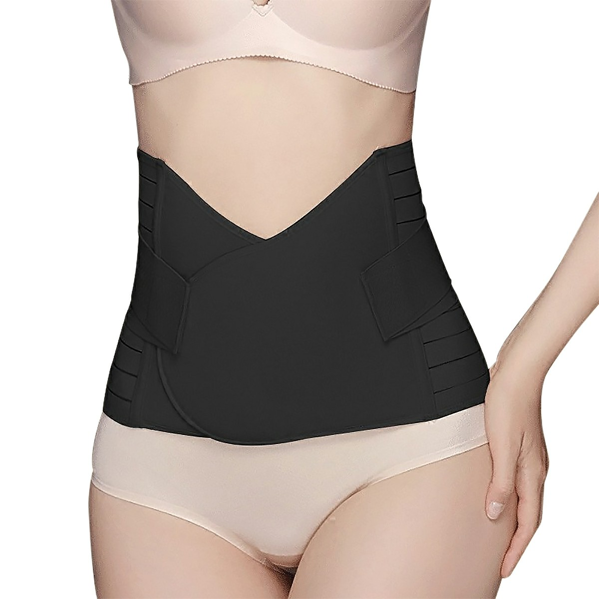 Postpartum Corset Recovery Tummy Belly Waist Support Belt Shaper - Black