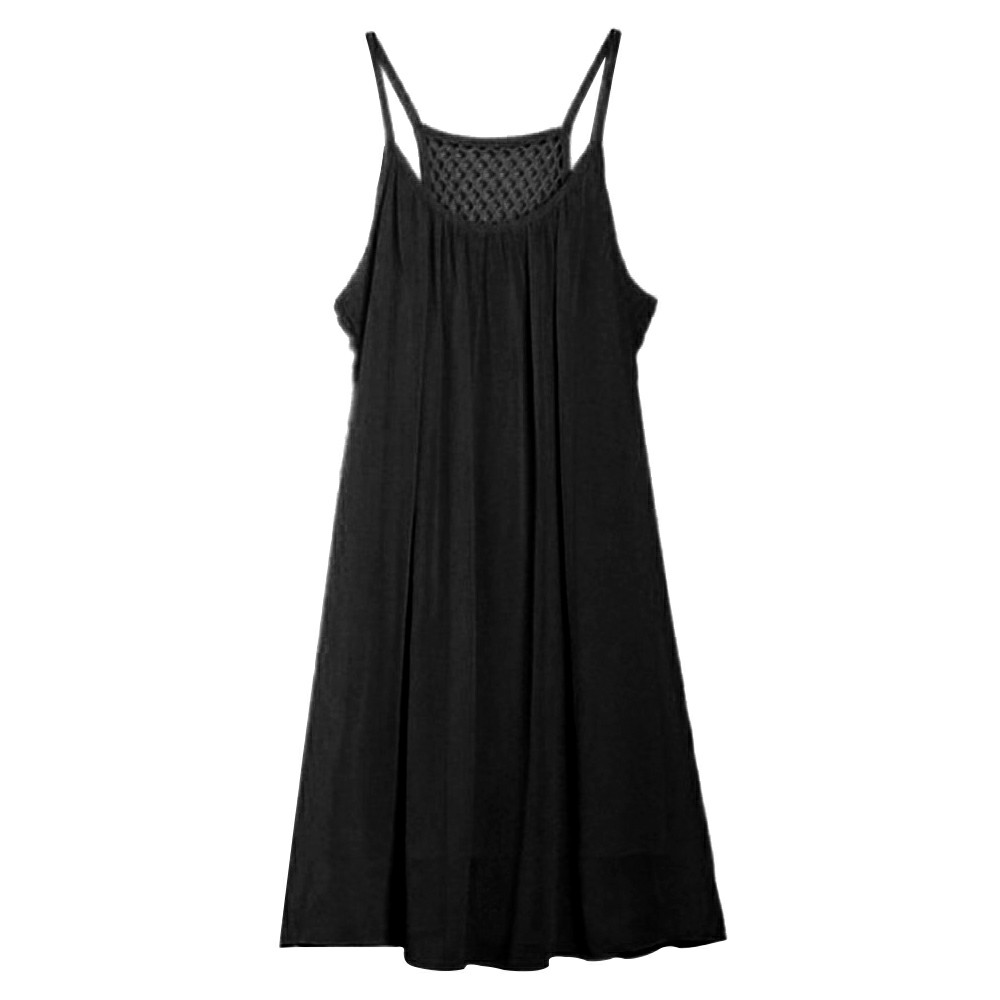 Women Holiday Chiffon Casual Daily Dress Beach Wear Bikini Cover Up Black