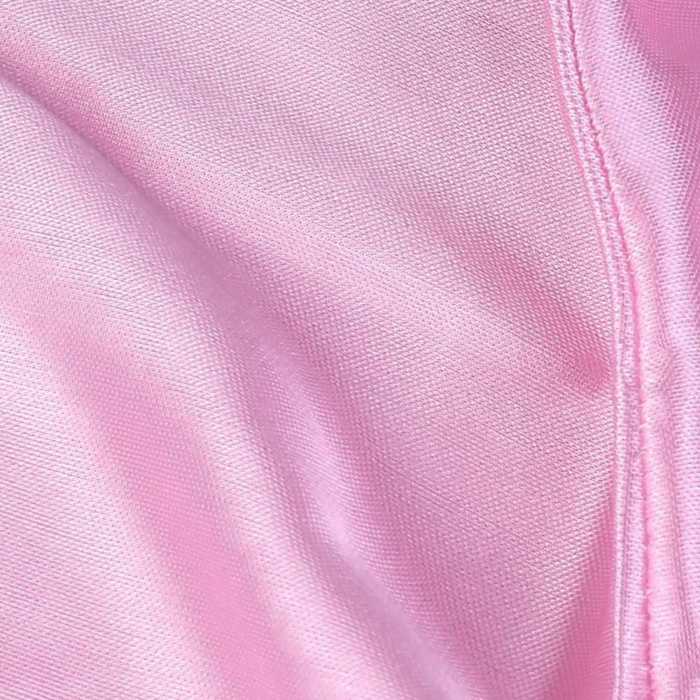 Fashion Unisex Men and Women Headscarf Headdress Bandana Durag Headwear Faux Soft Silk Pirate Cap Wrap - Pink