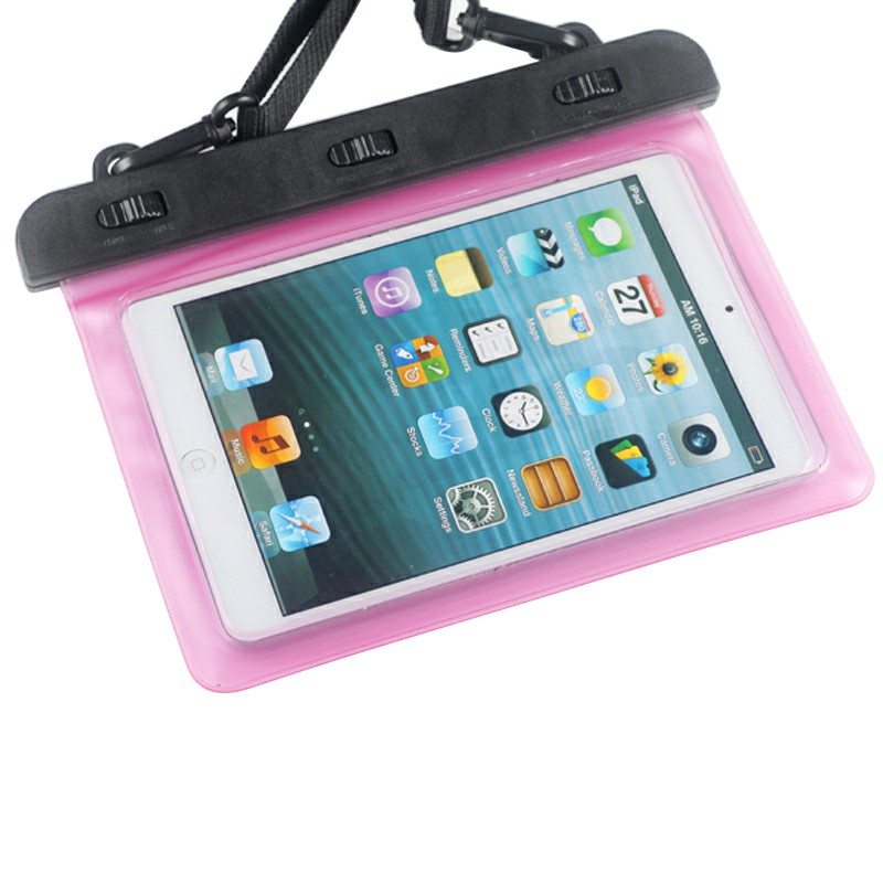 7-8 inches Mini Tablet Waterproof Bag Cover Water Resistance Pouch Case - Pink