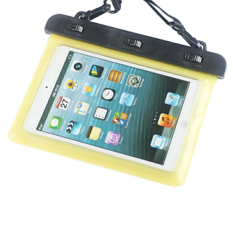 7-8 inches Mini Tablet Waterproof Bag Cover Water Resistance Pouch Case - Yellow