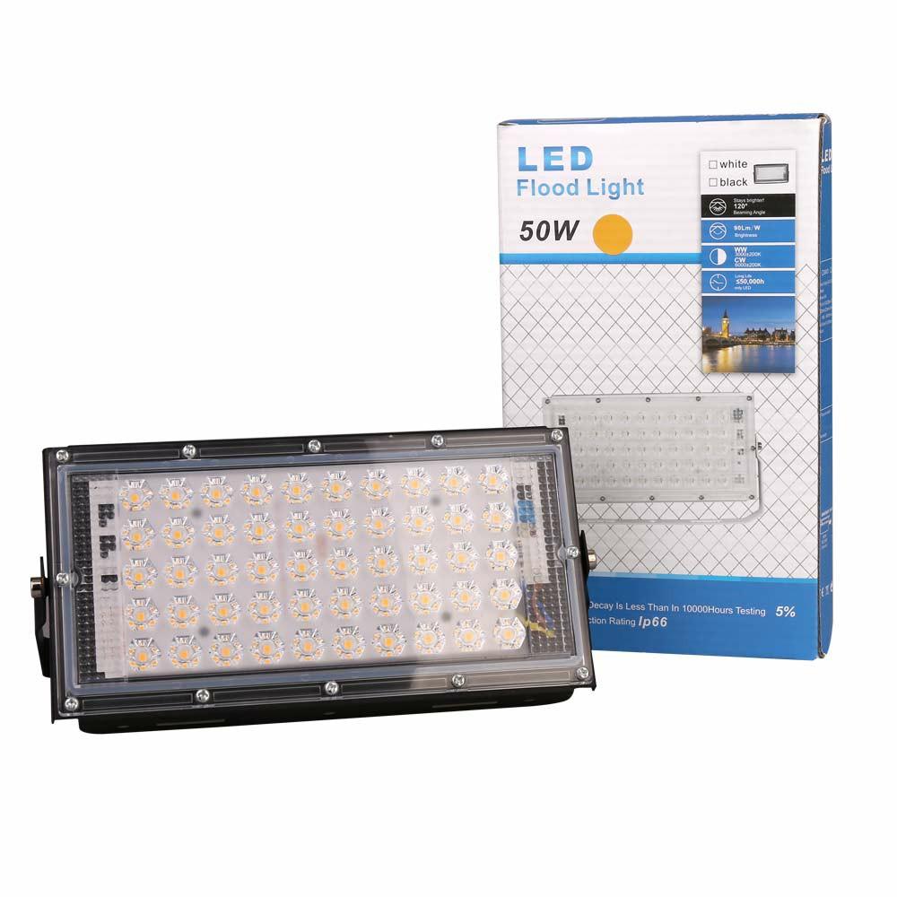 LED Security Floodlight 50W Indoor Outdoor Garden Waterproof Lamp Warm Light Super Bright Security Lights