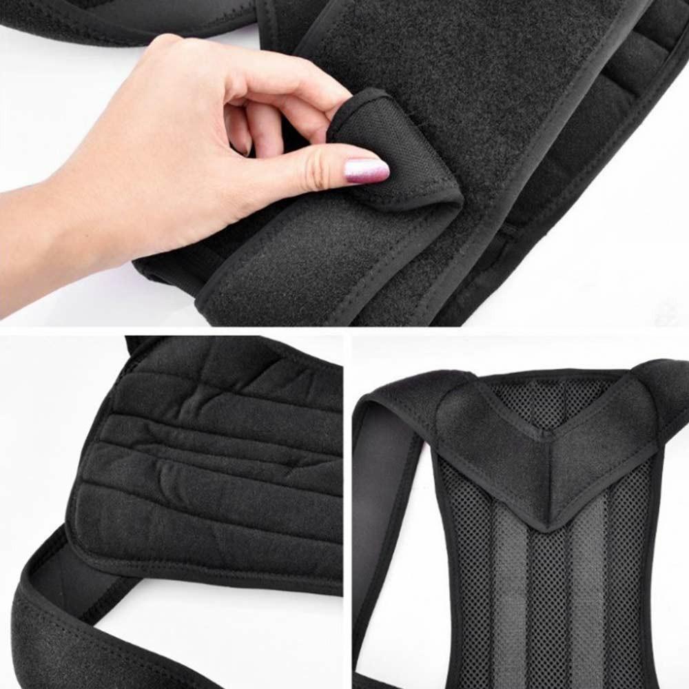 Adjustable Posture Corrector Slouch Shoulder Corset Back Lumbar Brace Orthosis Support Shoulder Straight Hold - M