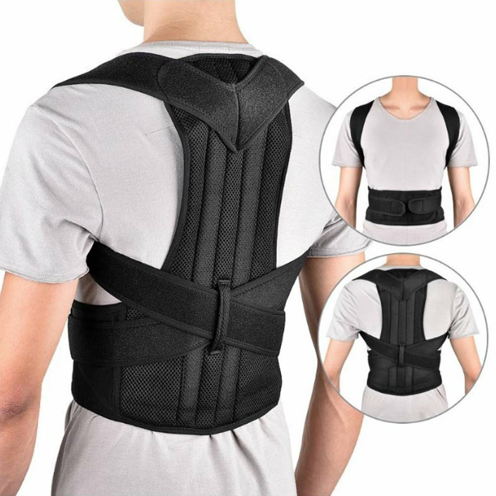 Adjustable Posture Corrector Slouch Shoulder Corset Back Lumbar Brace Orthosis Support Shoulder Straight Hold - 2XL