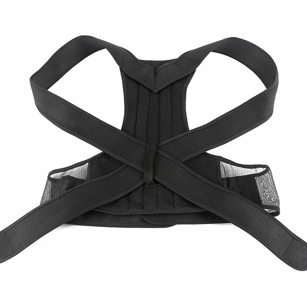 Adjustable Posture Corrector Slouch Shoulder Corset Back Lumbar Brace Orthosis Support Shoulder Straight Hold - 2XL