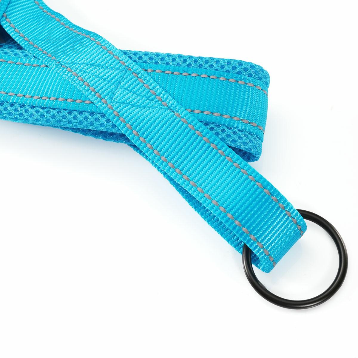Dog Pet Adjustable Safety Seat Belt Harness Restraint Lead Leash Size XS - Blue