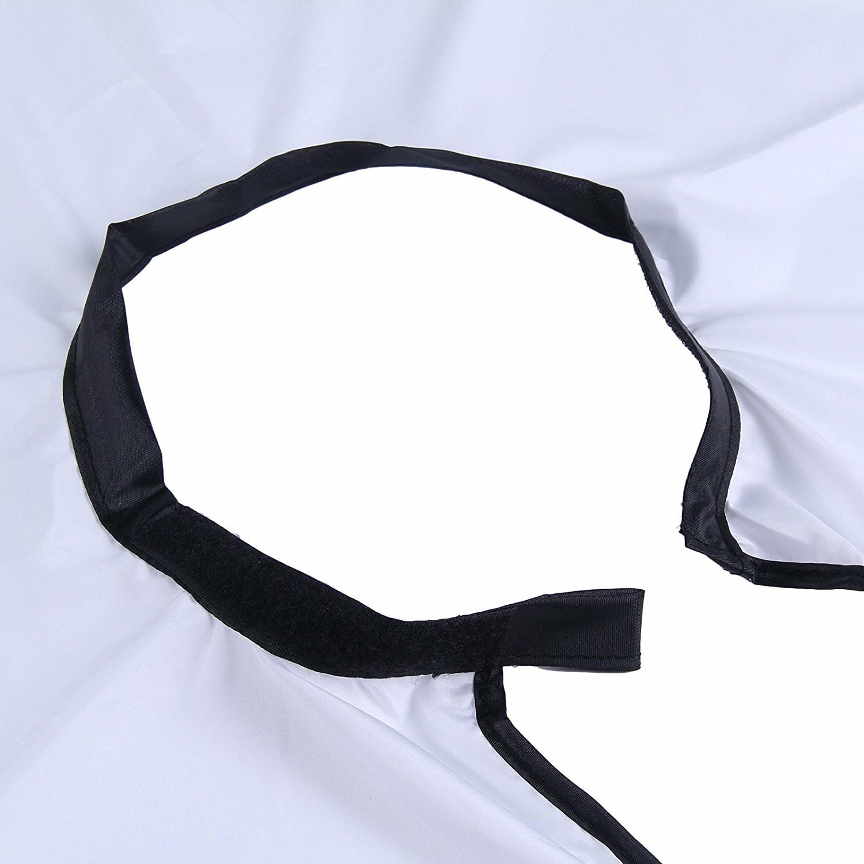 Beard Shave Apron Men Facial Beard Care Catcher Hair Trimmer Bib - White