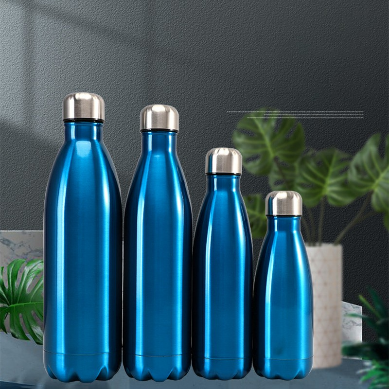 750ML Stainless Steel Vacuum Insulated Water Bottle Leak-proof Double Walled Drinks Bottle Glossy