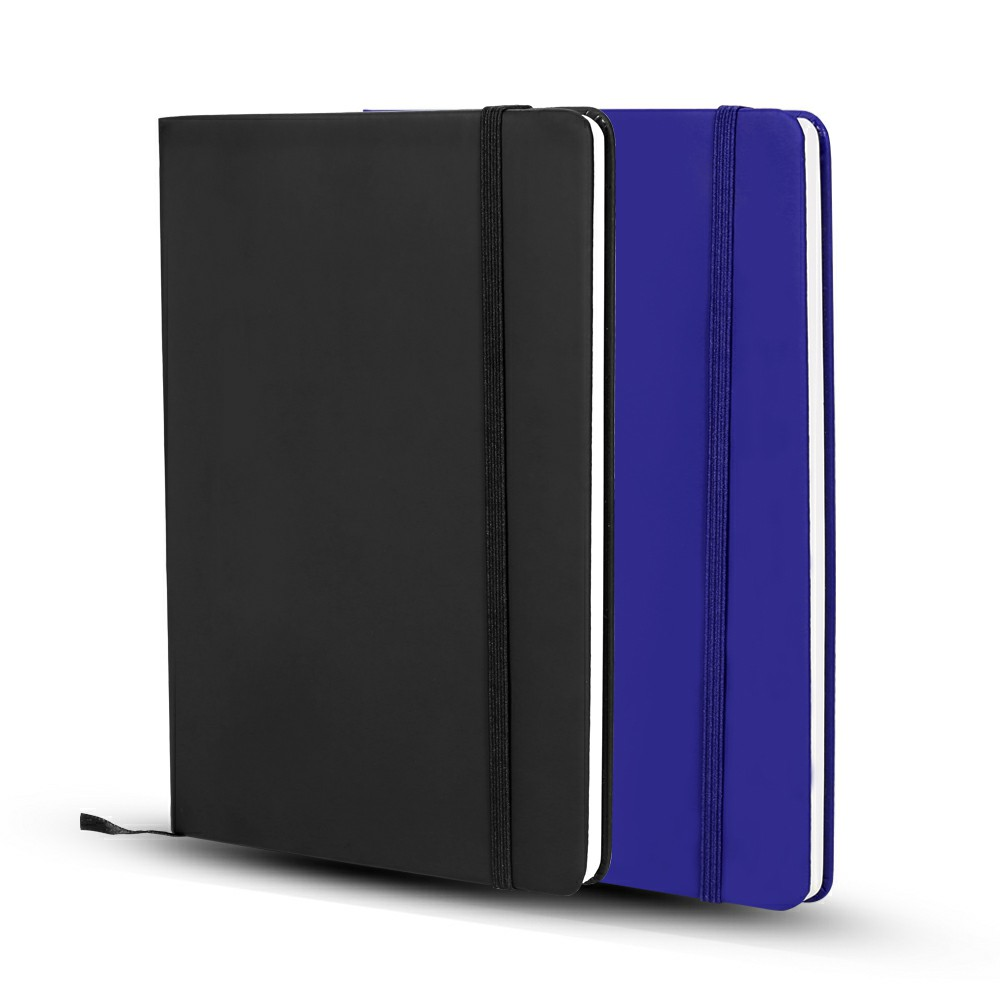 Silvine Executive Soft Feel Notebook with Strap Ruled Ivory Paper A5 - Black