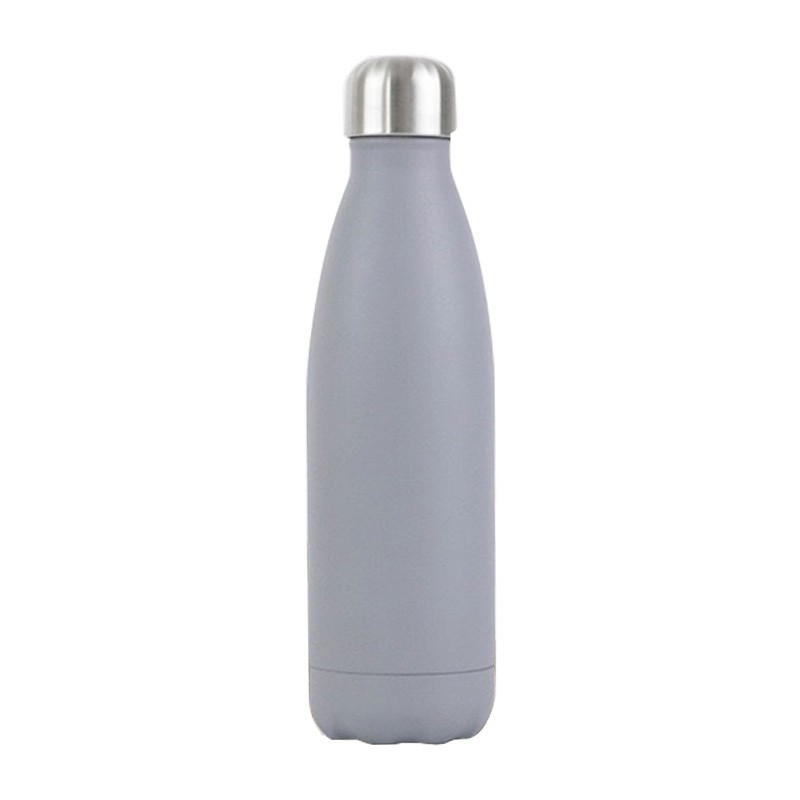 Rubber Paint 500ML Water Flask Stainless Steel Double Wall Vacuum Insulated Keep Hot and Cold Water Bottle - Matte Grey