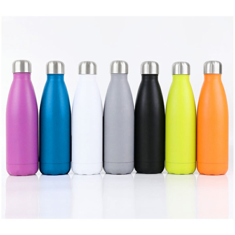 Rubber Paint 500ML Water Flask Stainless Steel Double Wall Vacuum Insulated Keep Hot and Cold Water Bottle