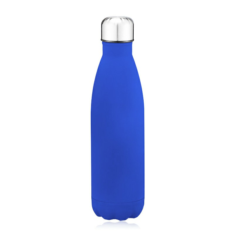 Rubber Paint 500ML Water Flask Stainless Steel Double Wall Vacuum Insulated Keep Hot and Cold Water Bottle - Matte Blue