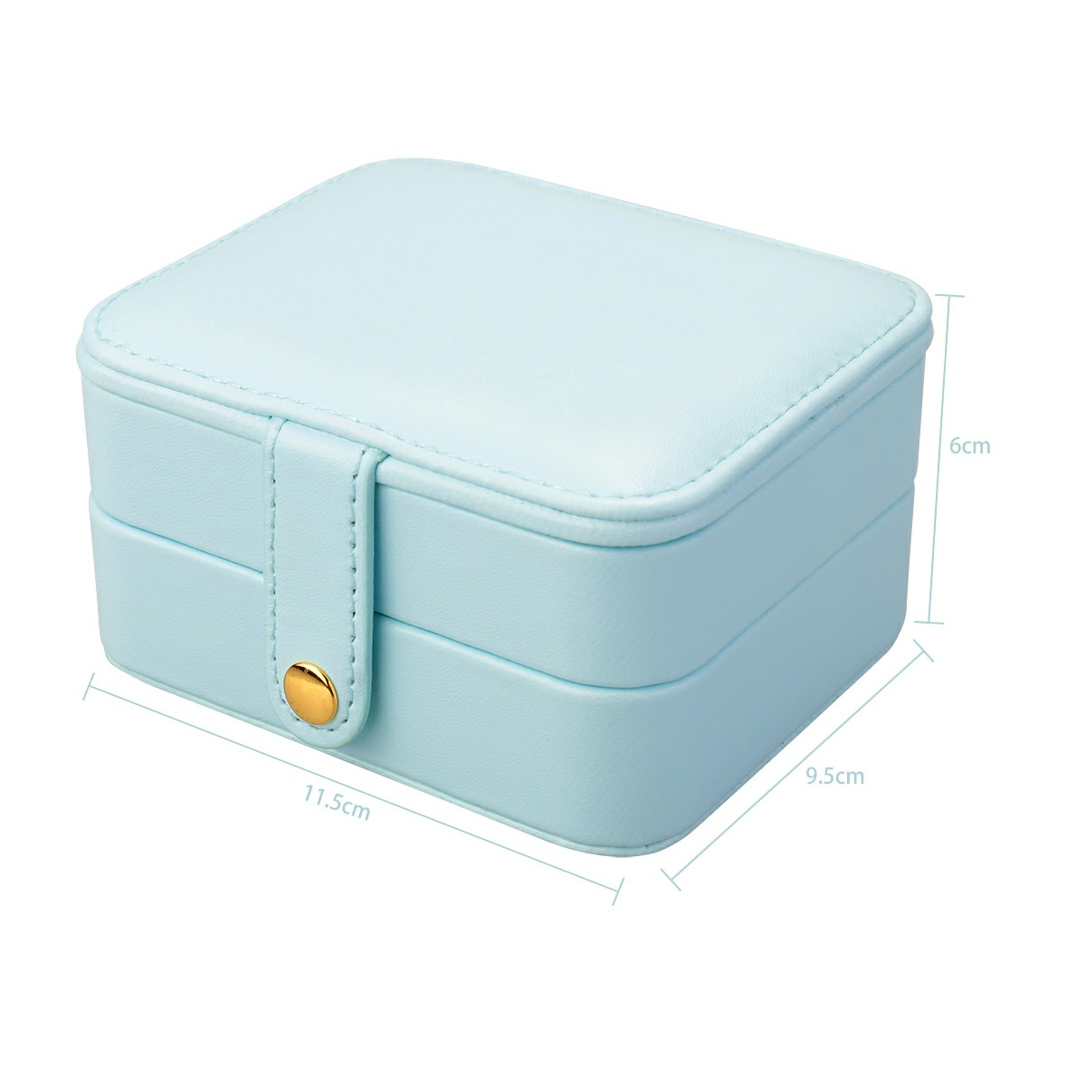 Creative Small Jewelry Box Multilayer Portable Travel Jewelry Box Leather Earrings Storage Box