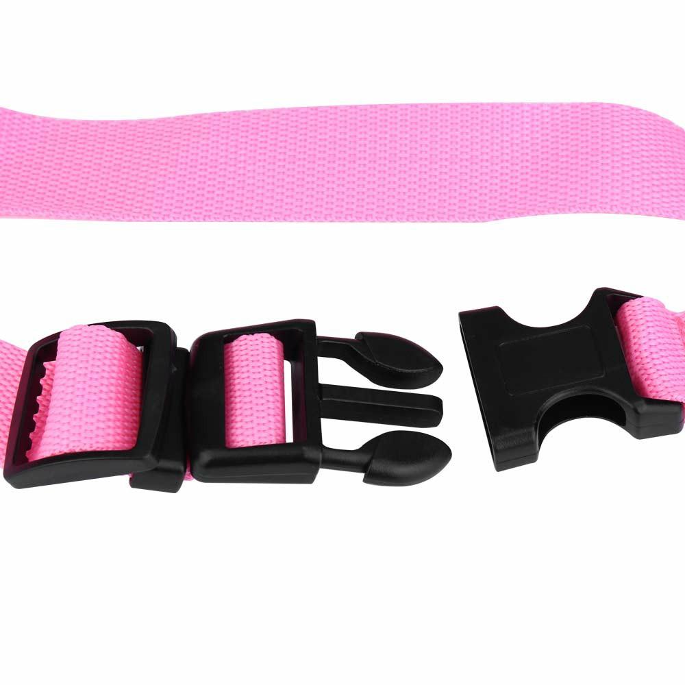 Dog Pet Adjustable Car Safety Seat Belt Harness Travel Lead Restraint Leash Belt Traction Rope - Pink