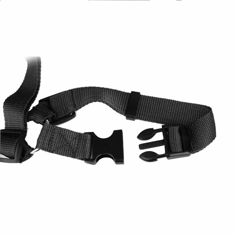 Dog Pet Adjustable Car Safety Seat Belt Harness Travel Lead Restraint Leash Belt Traction Rope - Black