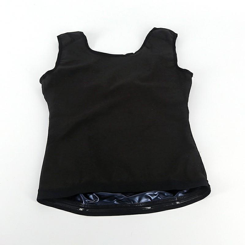 Women Sweat Body Shaper Clothes Bursting Sweat Fitness Vest Sports Body - S/M