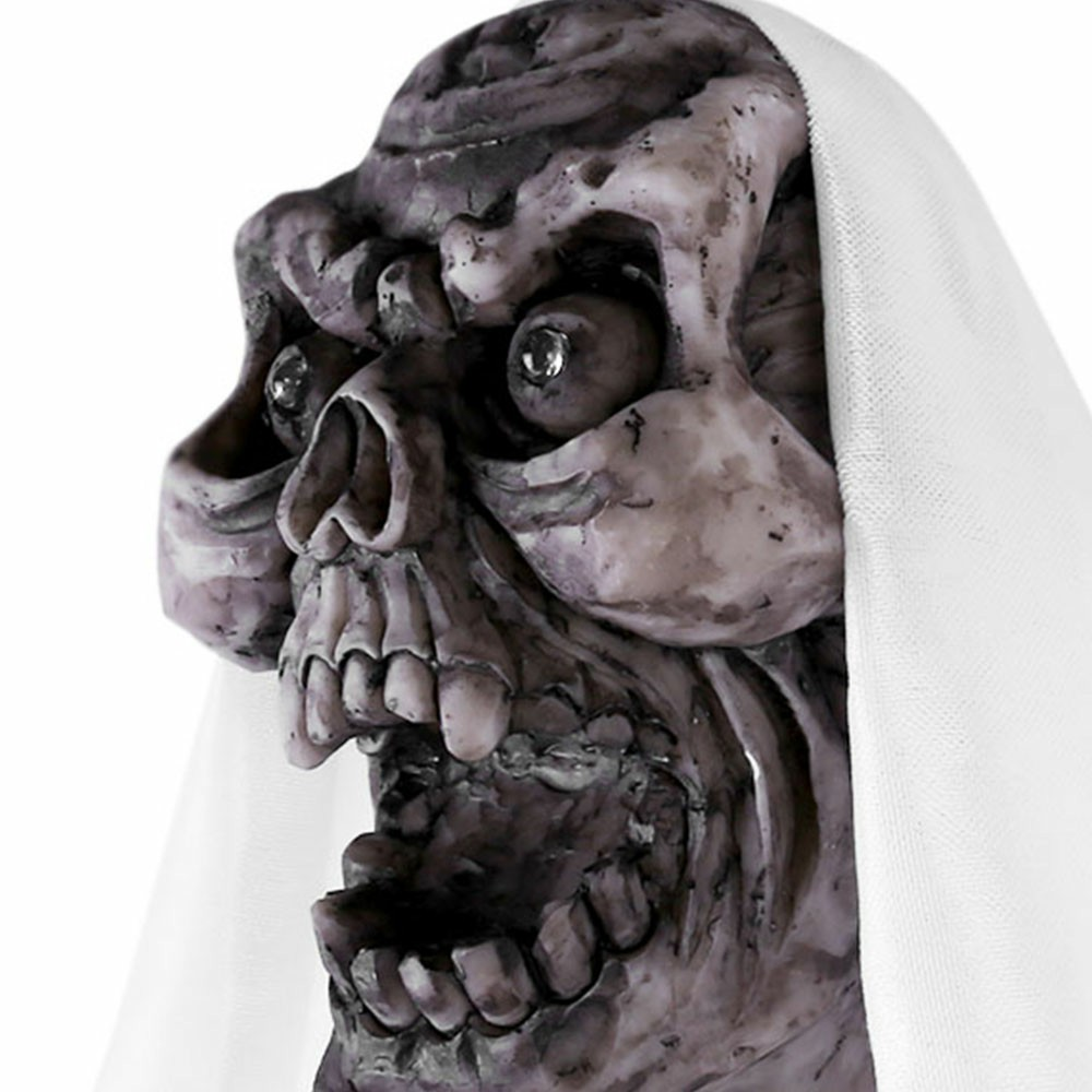 1M Height Hanging Skull Shackles Chain Halloween Ghost Ghoul Halloween Decoration - White