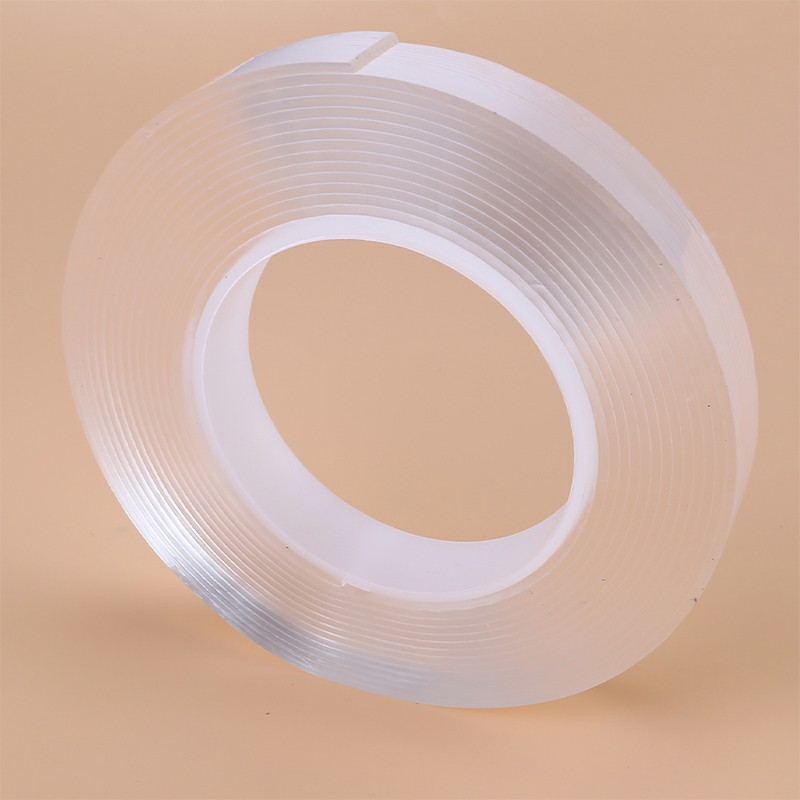 Nano Magic Tape Gel Grip Double Sided Traceless Removable Washable Adhesive Clear - 3m