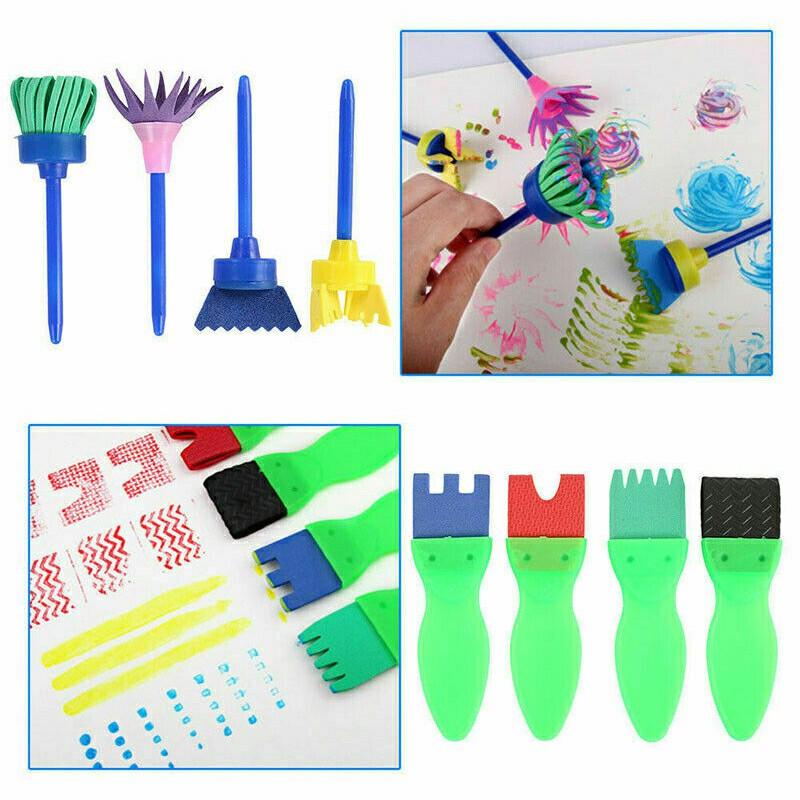 42 pcs Paint Brushes Sponge Painting Brush Tool Set for Toy - Blue