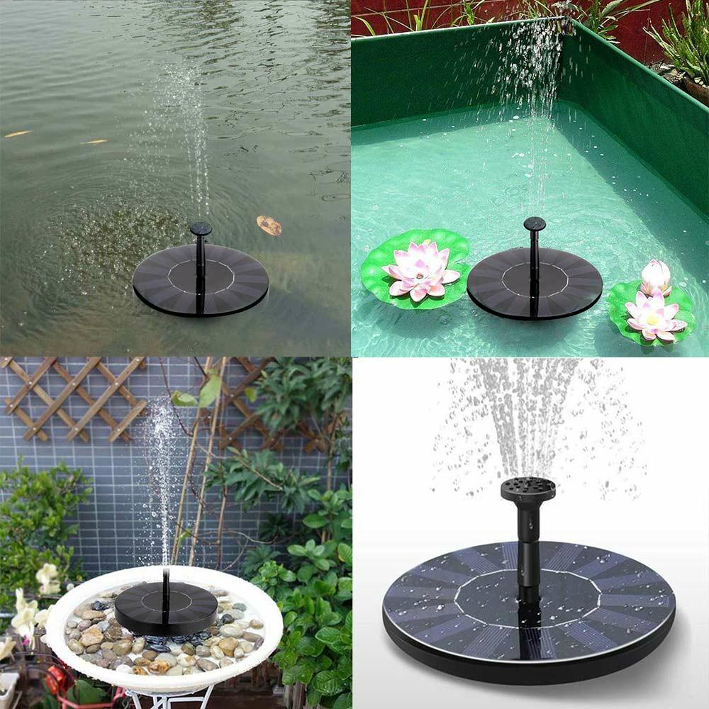 Solar Powered Floating Pump Water Fountain Birdbath Home Pool Garden Decor