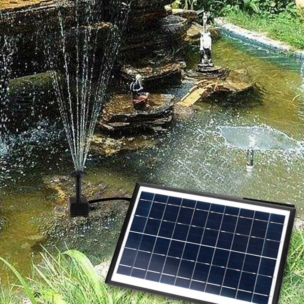 5W 400L/H Solar Panel Powered Water Pump Garden Pool Pond Fish Aquarium Fountain