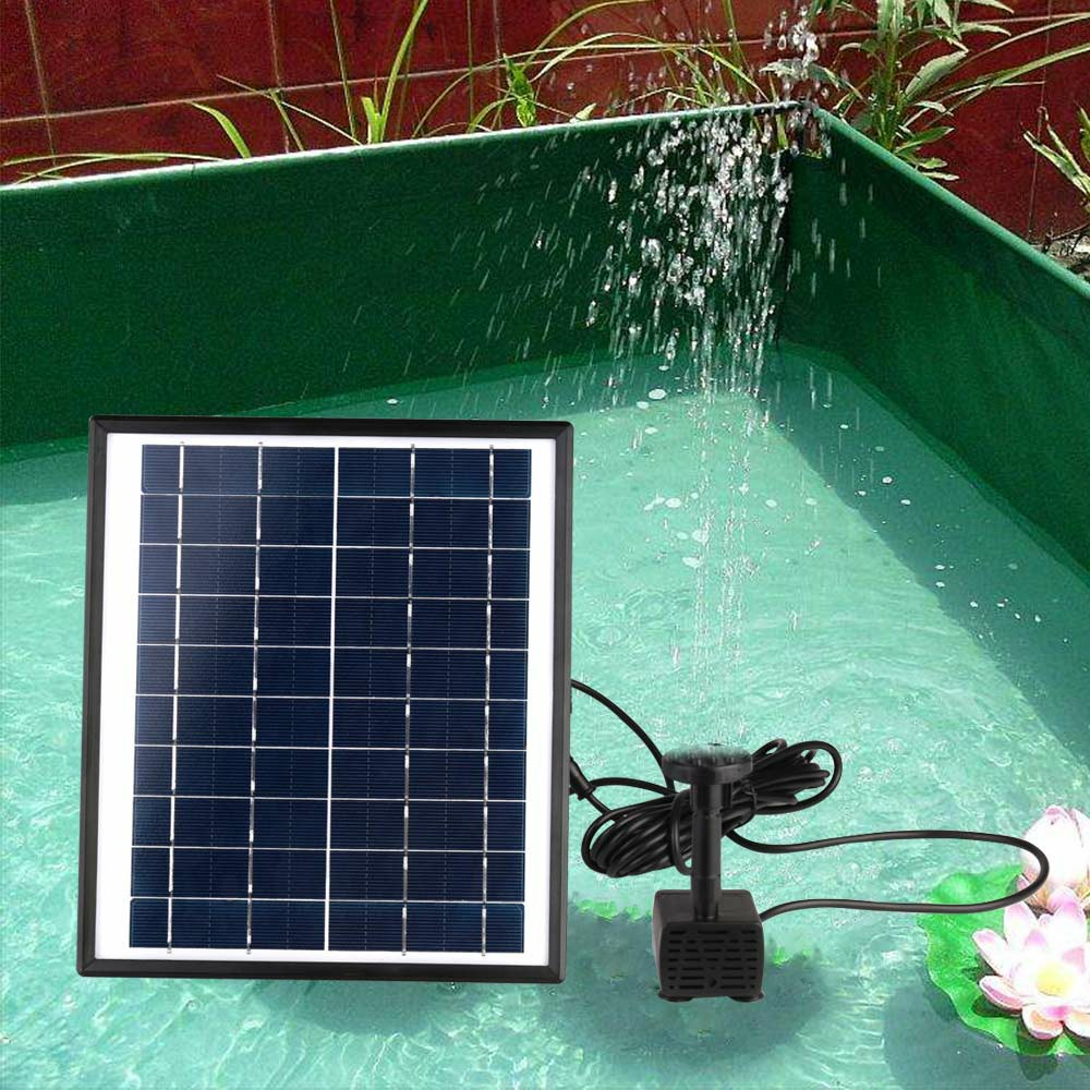 5W 400L/H Solar Panel Powered Water Pump Garden Pool Pond Fish Aquarium Fountain