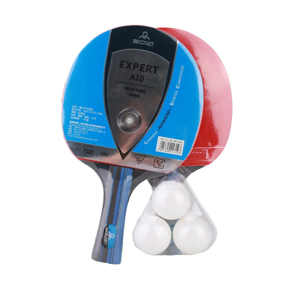 Table Tennis Racket Ppong Table Tennis Set 2 Bats with Cases + 3 Balls