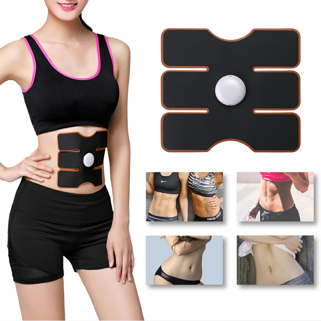 EMS Abdomen Muscle Stimulator Fitness Lifting Trainer Weight Loss Body Slimming Massage