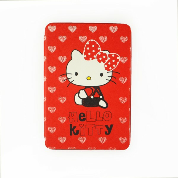 Kitty Cat Back Cover TPU Soft Case Cute Cover with Stand for iPad Mini 1/2/3 - Red