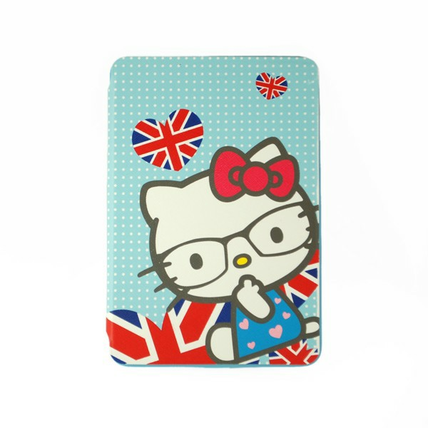 Kitty Cat Back Cover TPU Soft Case Cute Cover with Stand for iPad Mini 1/2/3 - Blue
