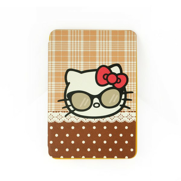 Kitty Cat Back Cover TPU Soft Case Cute Cover with Stand for iPad Mini 1/2/3 - Brown