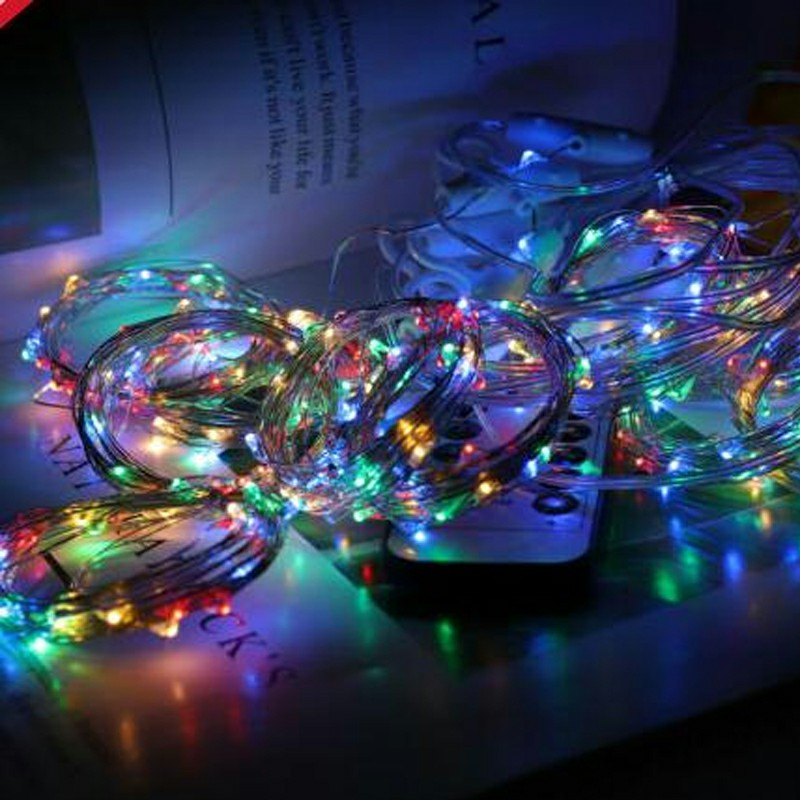 300 LEDs Curtain Fairy Lights String Hanging Wall Lights Wedding Party 8 Modes - Colorful Light