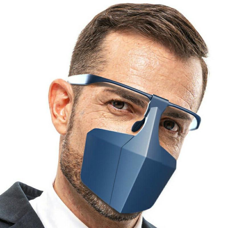 Protective Face Shield Filter Mask Anti-droplets Anti-splash Dust Reusable Isolation Mask - Blue