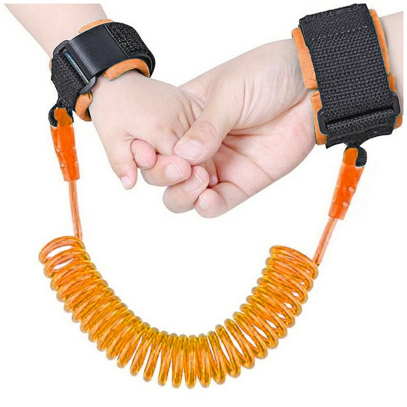 1.5M Anti-lost Safety Leash Wrist Link Harness Strap Reins Traction Rope - Orange