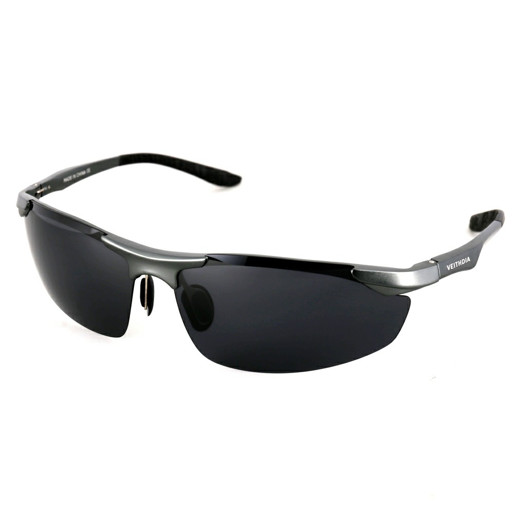 Aluminum Polarized Sunglasses Men Sports Sun Glasses Driving Mirror Goggle - Black