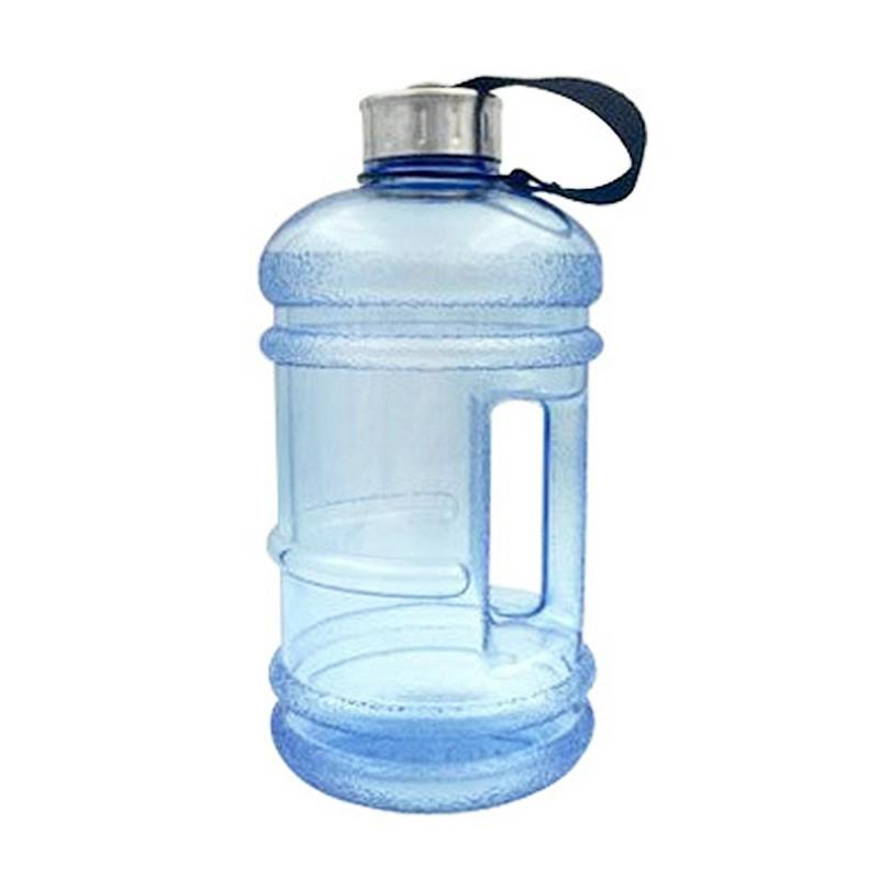 2.2L Big Large Sport Water Bottle BPA Free Leakproof Gym Training Drink Cap Kettle - Light Blue