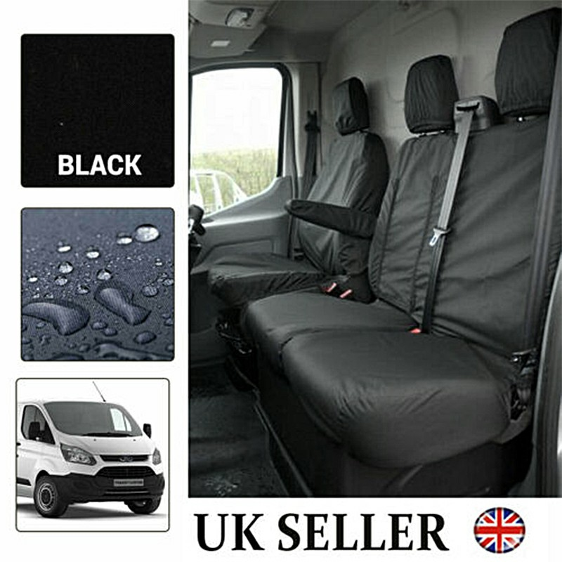 Black Waterproof Van Seat Covers  2+1 for Ford Transit Car Seat Cover Protector Set