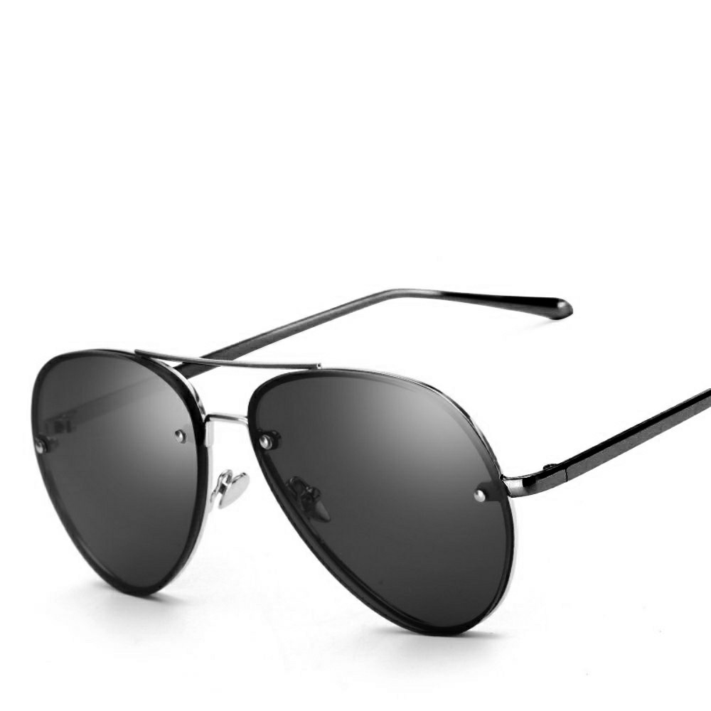 Vintage Retro Sunglasses Women and Men Large Mirrored Sunglasses UV400 - Black