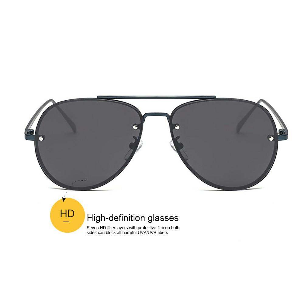 Vintage Retro Sunglasses Women and Men Large Mirrored Sunglasses UV400 - Black