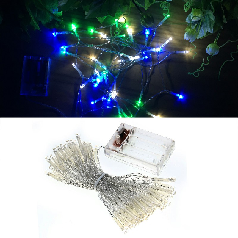 80 LEDs White Blue Green Light String for Christmas Wedding Xmas Party Decor